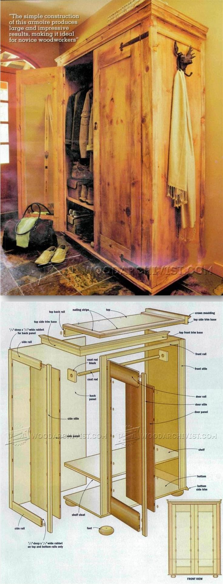Rustic Armoire Plans - Furniture Plans and Projects | WoodArchivist.com