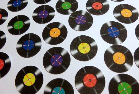 Record Decoration 70 S Party Record Confetti Album