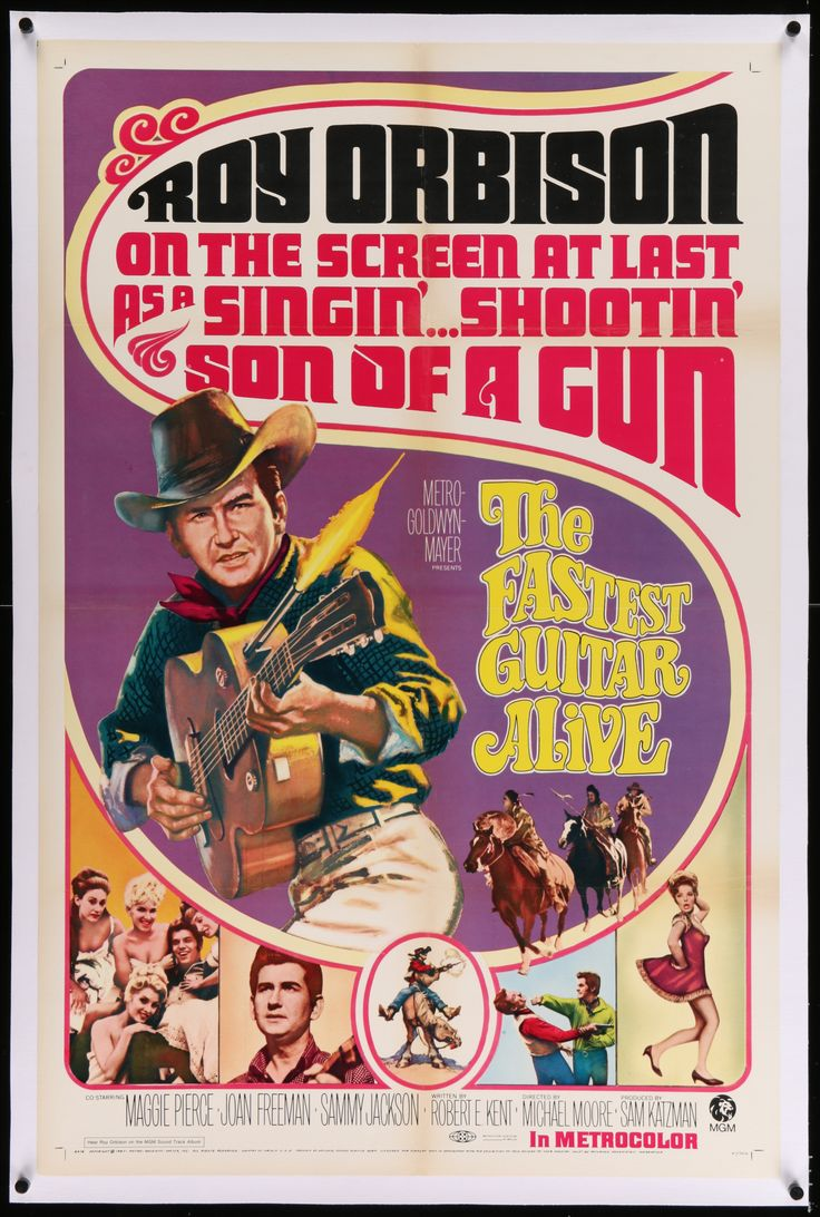 Rare poster of Roy Orbison movie