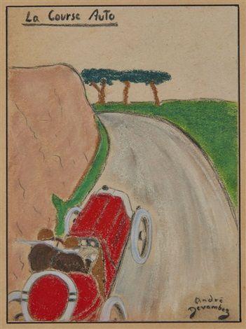La Course Auto by André Devambez