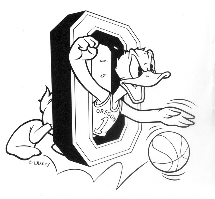 Old School Oregon Ducks Basketball Logo