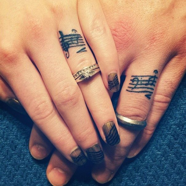 35 sweet simple wedding band tattoos wedding band for Finger tattoo cost