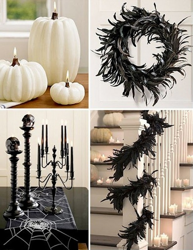 classy halloween > I really like the white pumpkins, carve out and add an oil light. Fabulous!
