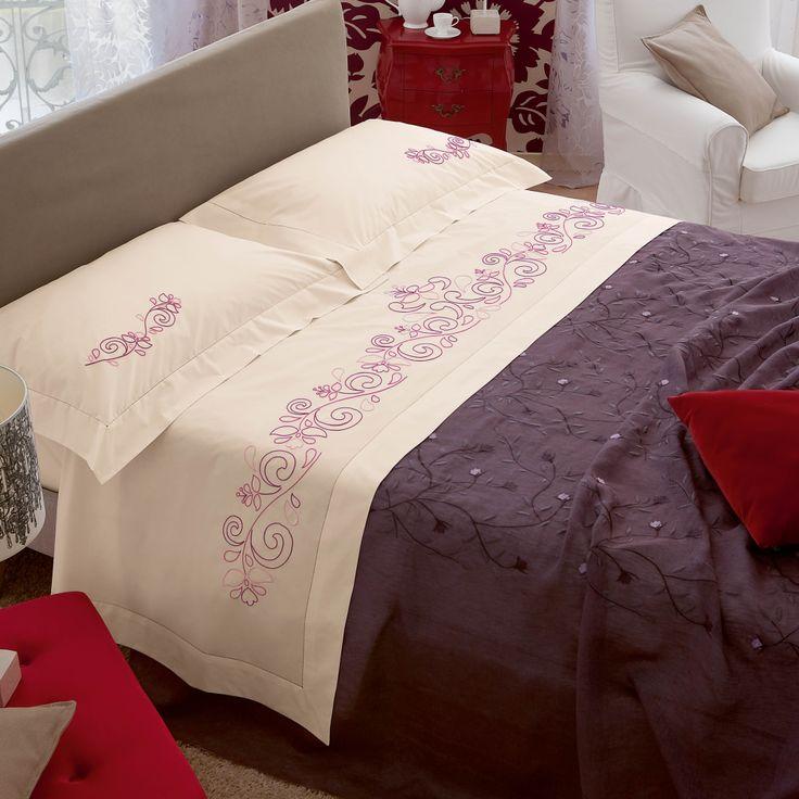 Cotone disegnato per parure letto, ricamo p. erba - Camera - Manidifata.it