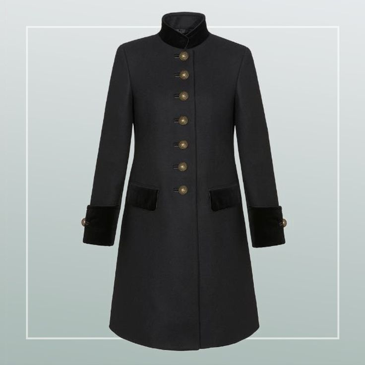 The Fay Military Coat: romantic, classic, luxurious, more in its details.