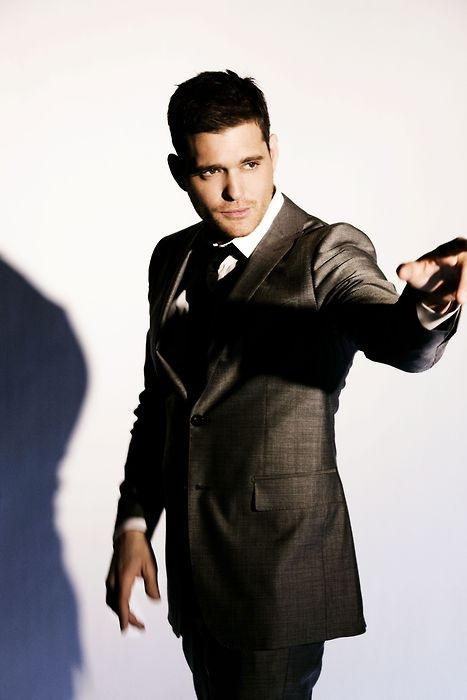 Michael Buble': i swear i could listen to him 24/7 and never get tired of that voice.