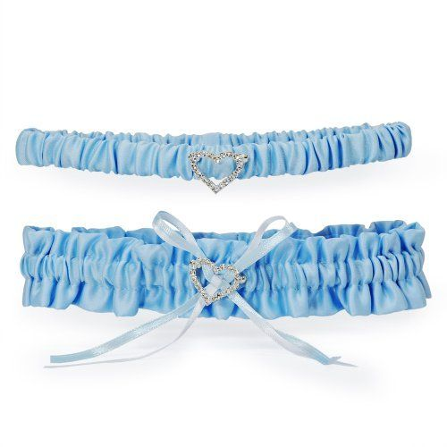 """Cathy's Concepts Blue Crush Wedding Garter by Cathy's Concepts. Save 21 Off!. $20.62. Your """"something blue"""" has never looked more regal than with our Blue Crush Wedding Garter. Brilliant blue satin provides the base for this gorgeous bridal accessory and features a double layered bow and crystal heart. With its dual color pallet and elegant appearance, this garter is sure to please! Available in blue only. Includes a free tossing garter Details: Size: One size fits most. Materials: Sati..."""