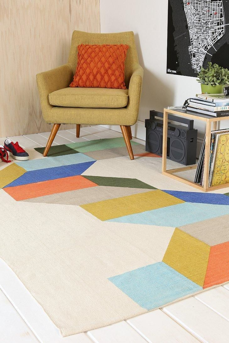 best colorful rugs images on pinterest  colorful rugs  - assembly home complex colorblock rug urbanoutfitters