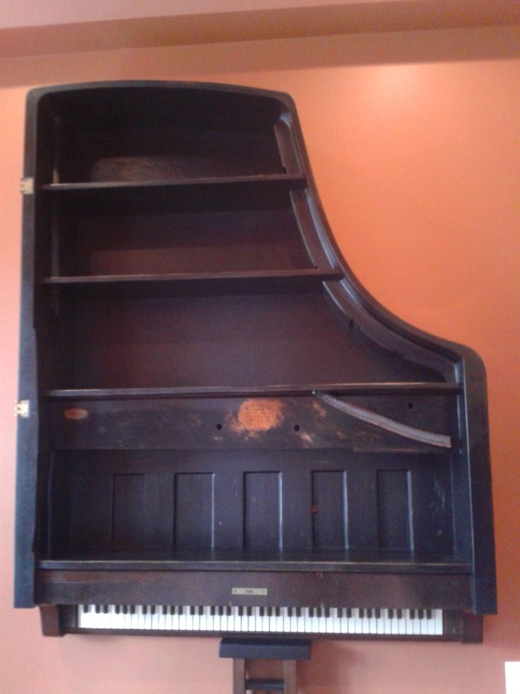 Repurposed furniture at its best! Piano shelf from an old ...