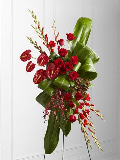 Unique Funeral Flowers   Sweet Thought Standing Spray (S19-4478)   The Frugal Flower