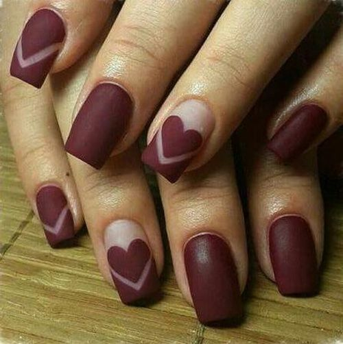 58 best valentines day nails 2018 14 february nail designs we have chosen valentines day nails and are ready to share the ideas with you new heart nail designs cute red and pink nails february we love you prinsesfo Image collections
