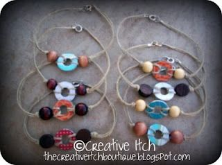 Washer anklets....super cute thing to try with the Brownie troop?