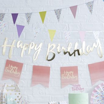 This Happy Birthday Backdrop is perfect for party celebrations!
