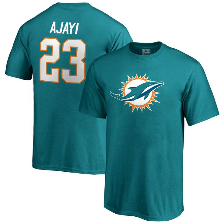 Jay Ajayi Miami Dolphins NFL Pro Line by Fanatics Branded Youth Team Icon Name & Number T-Shirt - Aqua