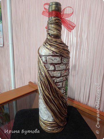 Декор предметов Ассамбляж Декупаж Зачем добру пропадать??? Мои любимые бутылки Бутылки стеклянные Капрон Клей Ракушки Скорлупа яичная фото 7