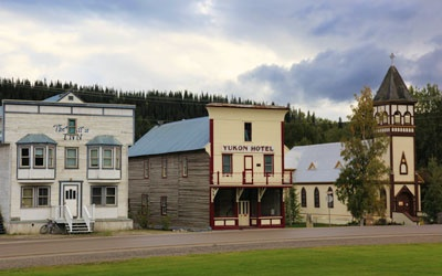 Dawson City, Yukon. I lived here for a year. right in that building.