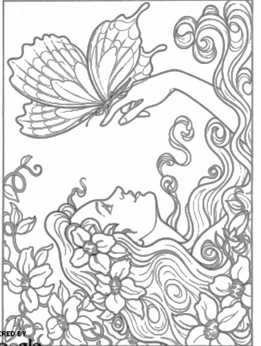 7213 best dessins images on pinterest   drawings, coloring books ... - Advanced Coloring Pages Butterfly