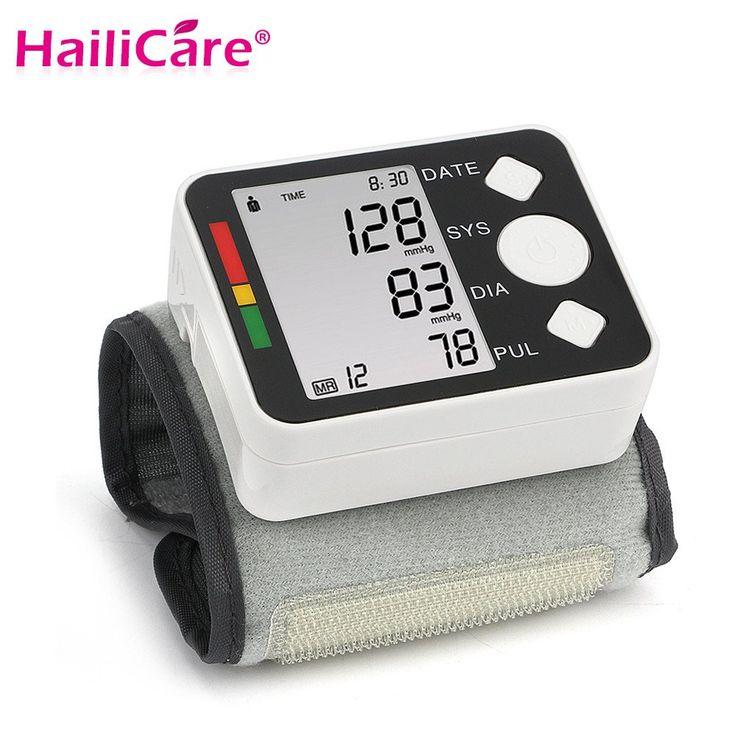 LCD Digital de muñeca Monitor de Presión Arterial Medidor de Medición Manguito Tonómetro Esfigmomanómetro Pulsometros Tensiometro Cuidado de La Salud