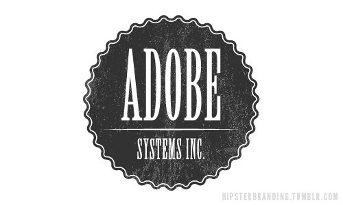 What If Hipsters Designed Brand Logos?