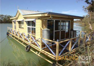 Small houseboat in Australia