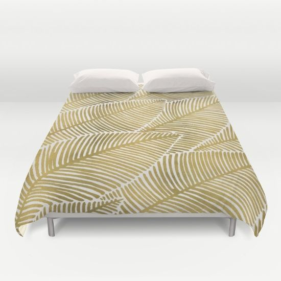 Buy ultra soft microfiber Duvet Covers featuring Tropical Gold by Cat Coquillette. Hand sewn and meticulously crafted, these lightweight Duvet Cover vividly feature your favorite designs with a soft white reverse side.