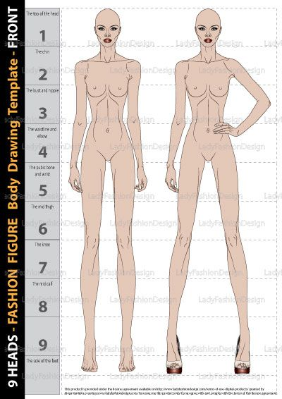 Fashion Figure Drawing Template – Front