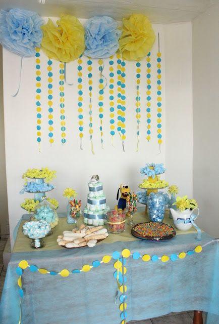 decoracao azul e amarelo para cha de bebe : decoracao azul e amarelo para cha de bebe:chá de bebê azul e amarelo
