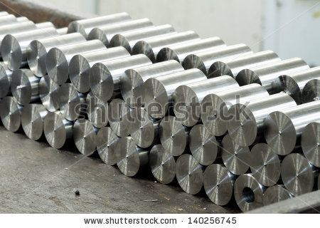 round metal bars - stock photo