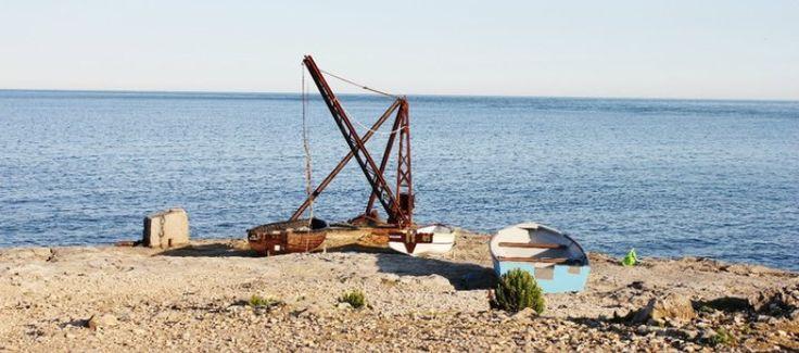 Rusting boat winch