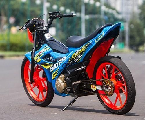 gambar foto modifikasi motor satria fu ban besar