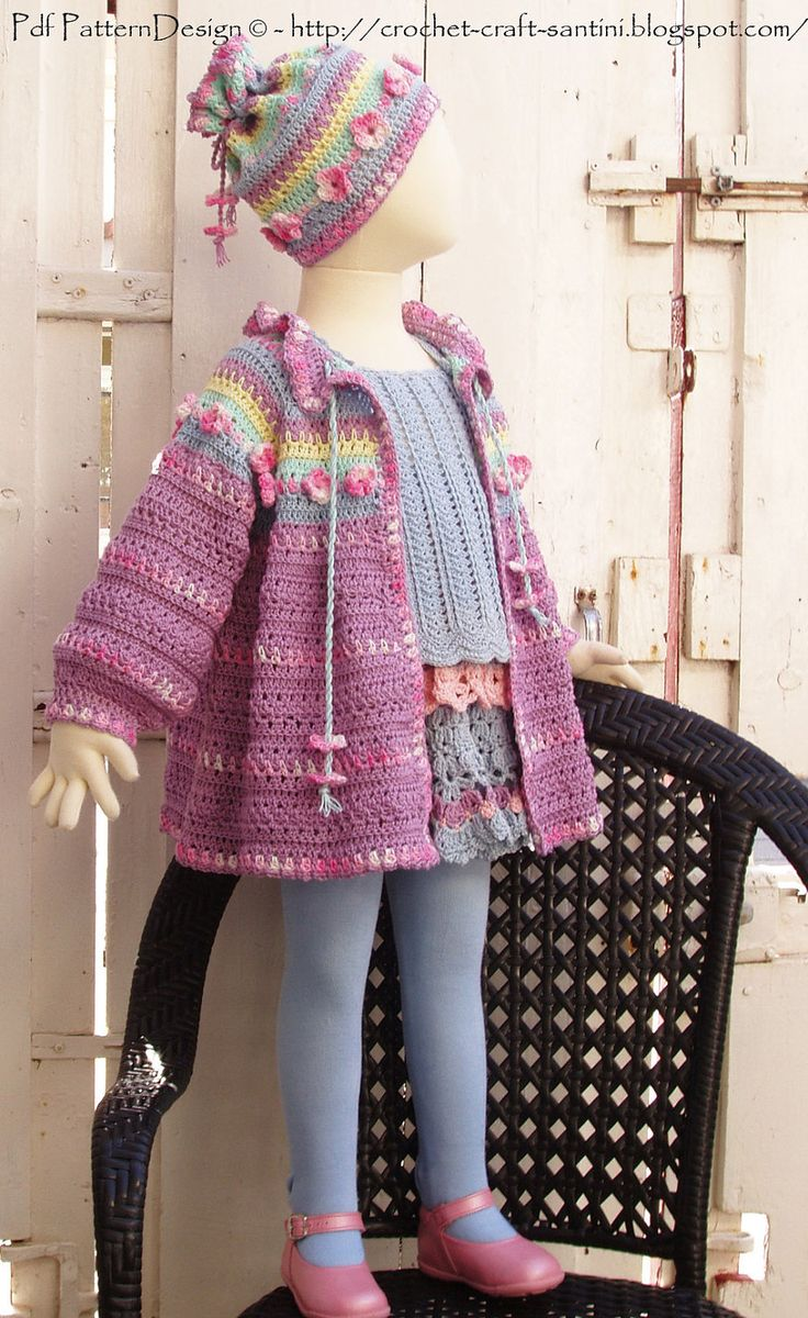 Summer Cardigan with Flowers - Crochet Pattern Instant Download