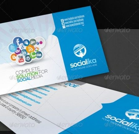 96 best business cards images on pinterest business cards carte socialika social media business card for any kind of social media business or freelancer print dimension with bleed trim mark layered ai eps fully wajeb Gallery