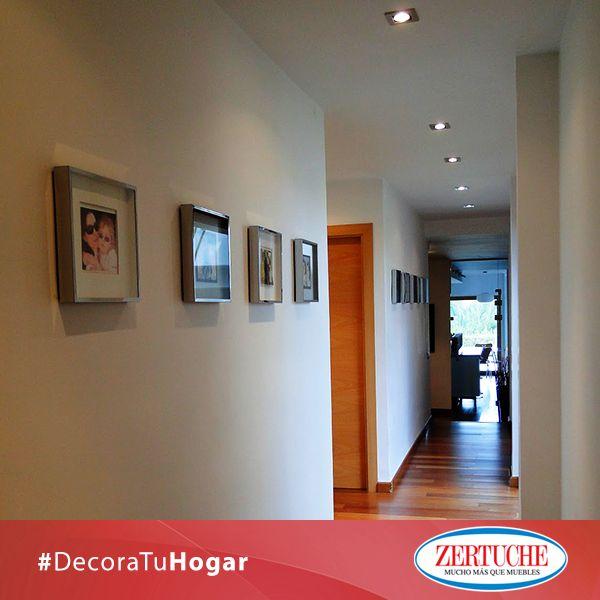 Si en tu casa hay un pasillo largo dec ralo con tus fotos - Como decorar un pasillo ...