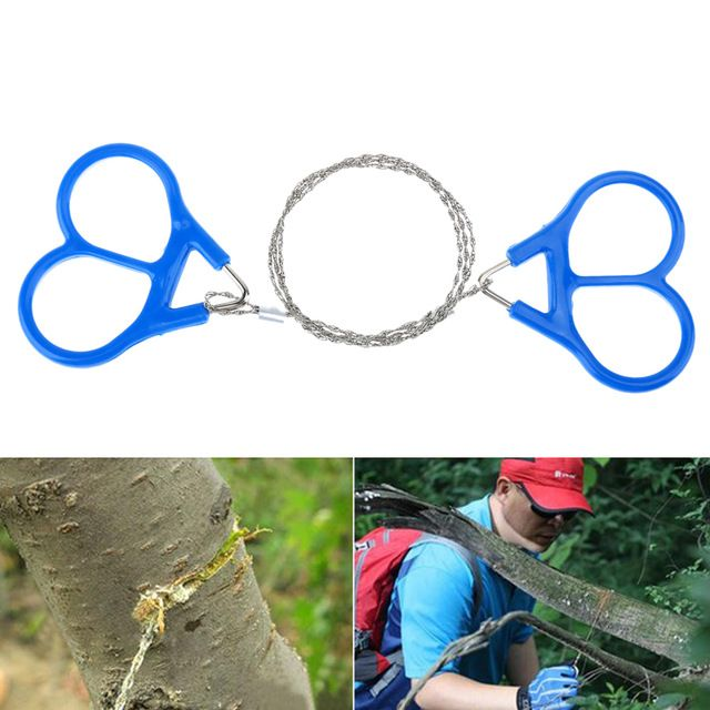 1PC Hunting Outdoor Survival Camping EDC Tool Plastic Ring Steel Wire Saw Scroll