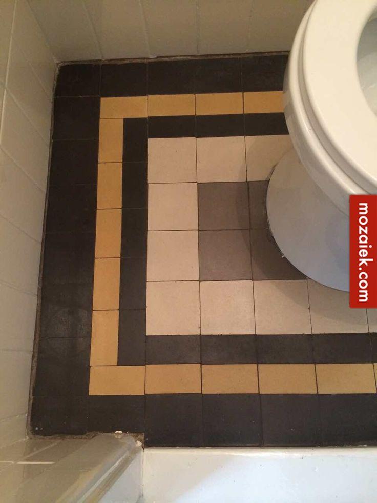 mozaiek.com utrecht – aanvulling jaren 30 tegels voor een zwevend toilet   3d ontwerp    monique van waes mozaiek.com