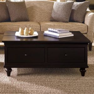 Black Coffee Tables With Drawers