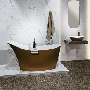 Custom Painted Bath And Basin In Bronze By Luxe By Design, Brisbane. We Can  Custom Finish Any Victoria And Albert Bath Or Basin In Any Colour.