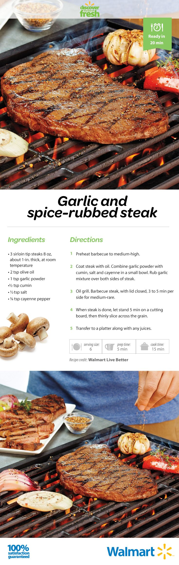 Bring out the flavours of your #bbq #angus #steak with a #garlic and spice rub…