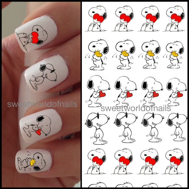 Nail Art Water Decals Transfers Snoopy Snoop On Etsy