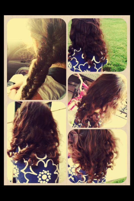 Sleeping with a fishtail braid.... next day.... CURLS LOVE THIS!♥♥♥