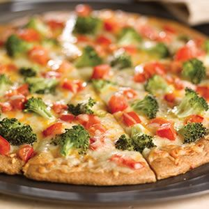 Broccoli and Fresh Tomato Pizza  #broccoli #tomato #pizza