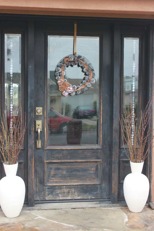 Rustic Winter Front Door