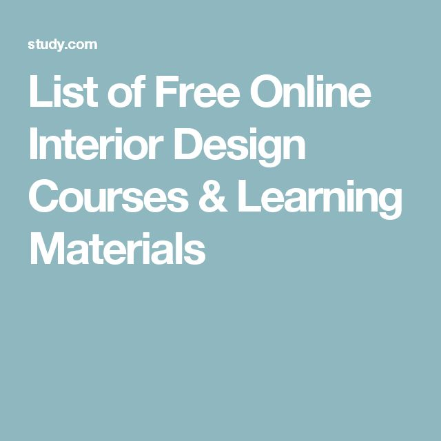 17 Best Ideas About Interior Design Courses Online On