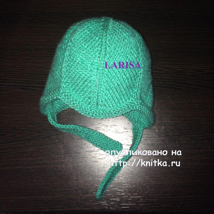 Вязаная шапочка и пинетки - работы Ларисы Величко вязание и схемы вязания