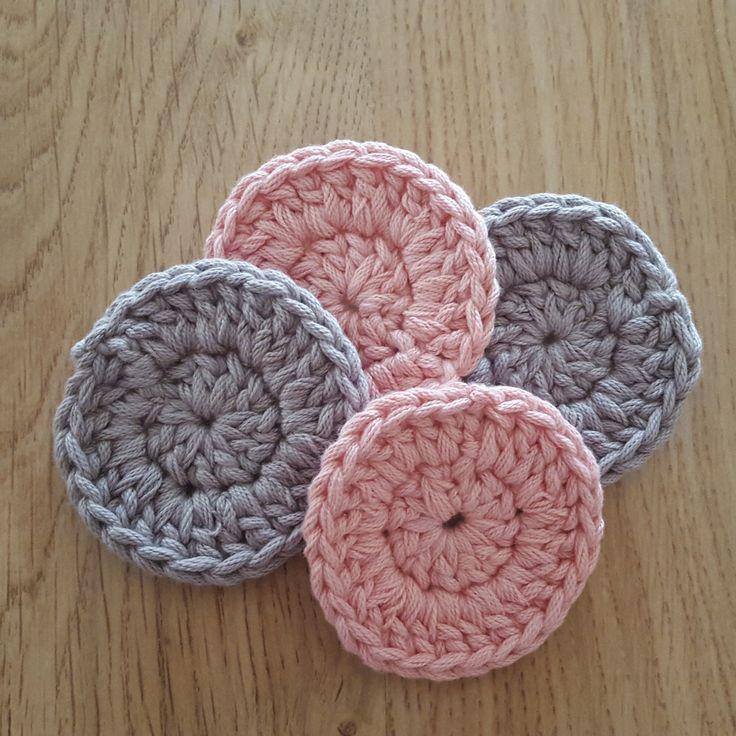 Crochet face scrubbies, reusable cotton rounds, zerowaste