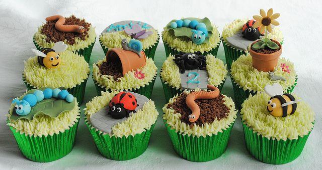 Garden Bugs Cupcakes! by thecustomcakeshop, via Flickr