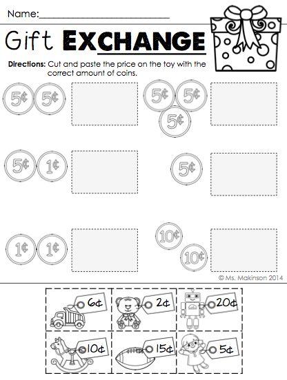 December Printables - First Grade Literacy and Math : Math ...