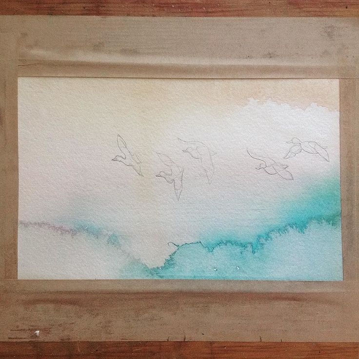 Trying out abstract backgrounds. #process #experiment #diy #wip #abstract #ducks #subtle #nature #expression