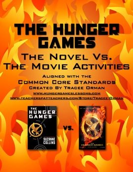The Hunger Games Book vs. Movie Activities; aligned with the Common Core State Standards