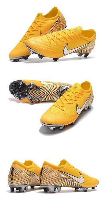 Zapatillas de Fútbol 2018 Neymar Nike Mercurial Vapor XII FG - Amarillo  Blanco b3a550eb9a95f